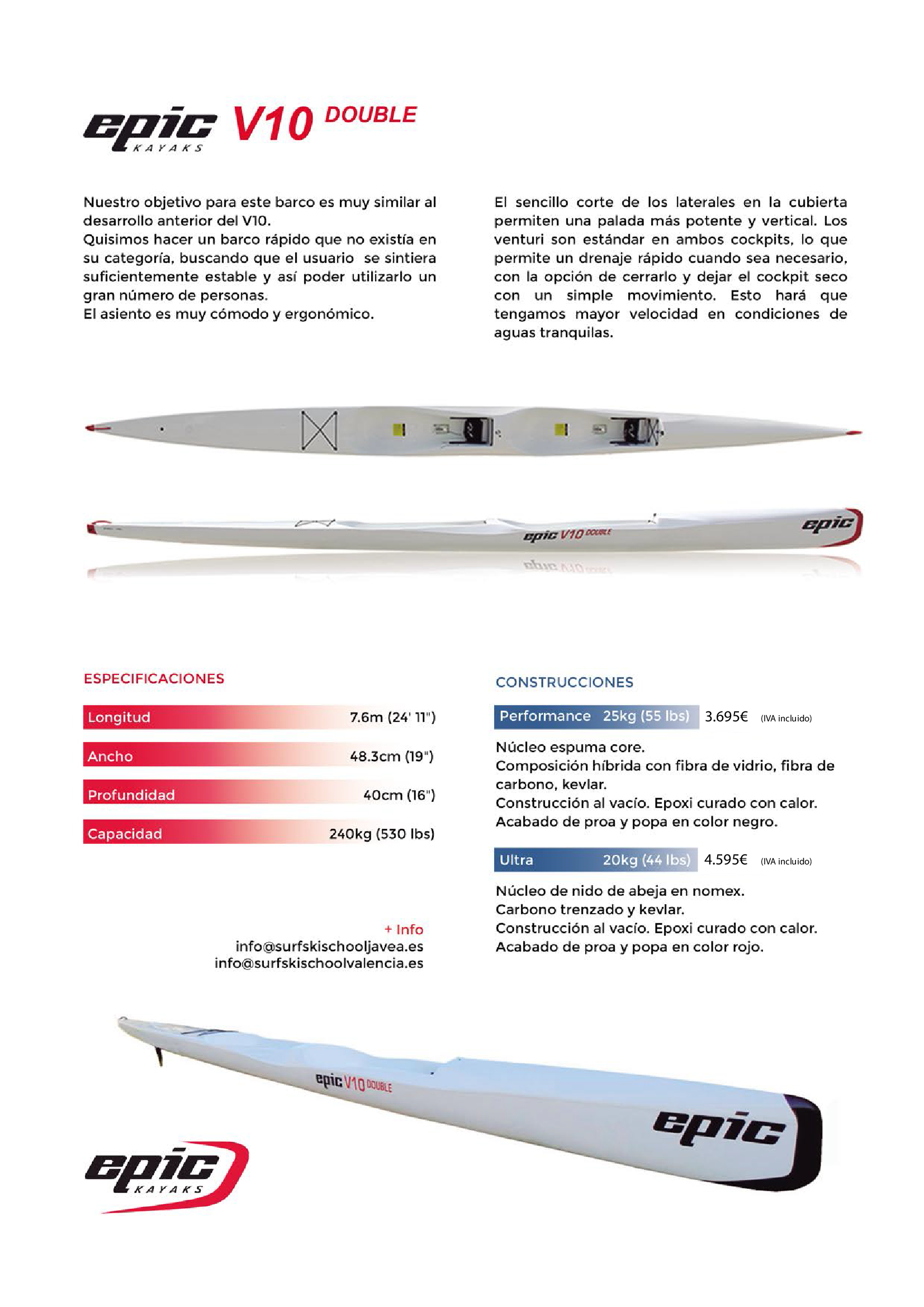 surfski v10L double