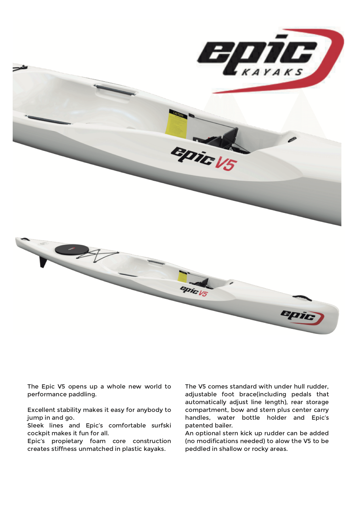 surfski v5 rotomolded